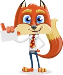 Fox with a Tie Cartoon Vector Character AKA Luke Foxman - Sign 1