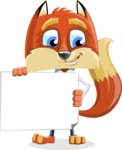 Fox with a Tie Cartoon Vector Character AKA Luke Foxman - Sign 3