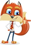 Fox with a Tie Cartoon Vector Character AKA Luke Foxman - Point