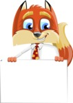 Fox with a Tie Cartoon Vector Character AKA Luke Foxman - Sign 6