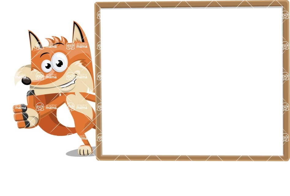 Flat Fox Cartoon Vector Character AKA Roy Foxly - Presentation 5