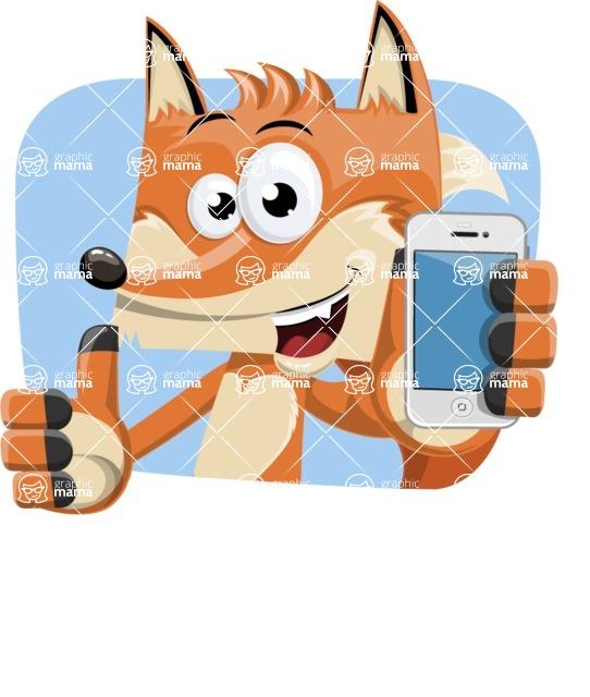 Flat Fox Cartoon Vector Character AKA Roy Foxly - Shape 2