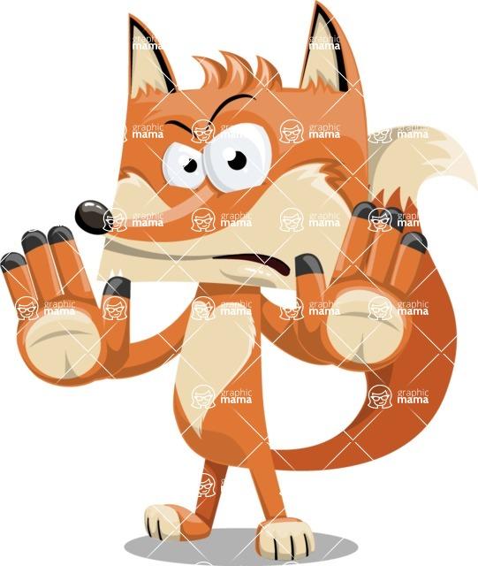 Flat Fox Cartoon Vector Character AKA Roy Foxly - Stop 2