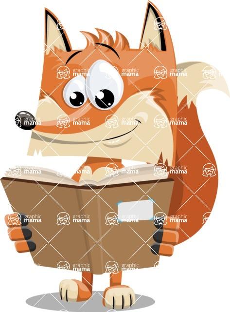 Flat Fox Cartoon Vector Character AKA Roy Foxly - Book 1