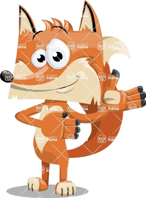 Flat Fox Cartoon Vector Character AKA Roy Foxly - Showcase