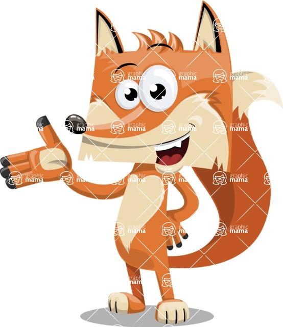 Flat Fox Cartoon Vector Character AKA Roy Foxly - Showcase 2