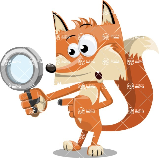 Flat Fox Cartoon Vector Character AKA Roy Foxly - Search