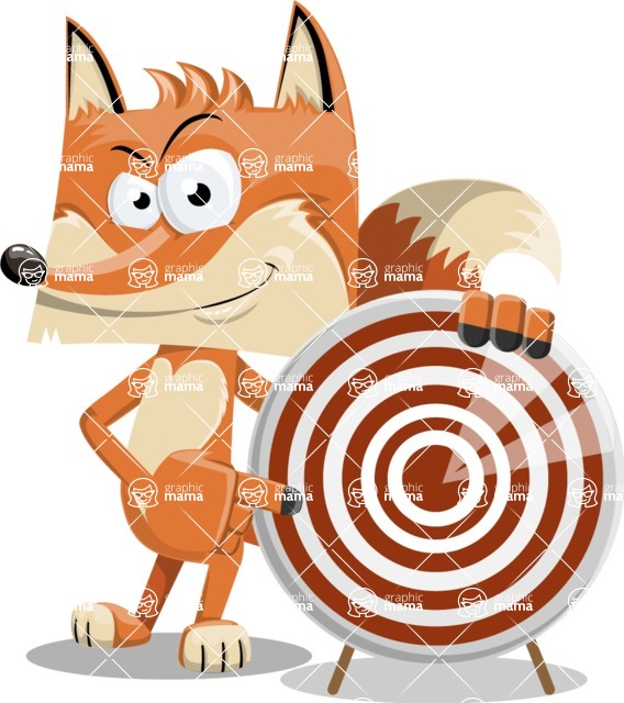Flat Fox Cartoon Vector Character AKA Roy Foxly - Target