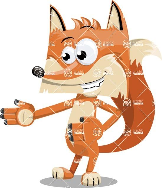Flat Fox Cartoon Vector Character AKA Roy Foxly - Show 2