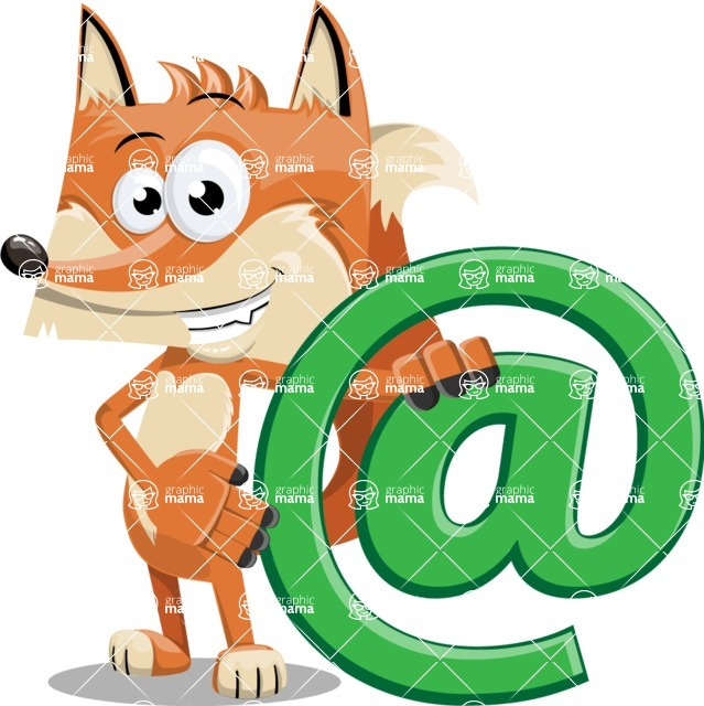 Flat Fox Cartoon Vector Character AKA Roy Foxly - Email