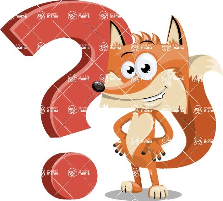 Flat Fox Cartoon Vector Character AKA Roy Foxly - Question