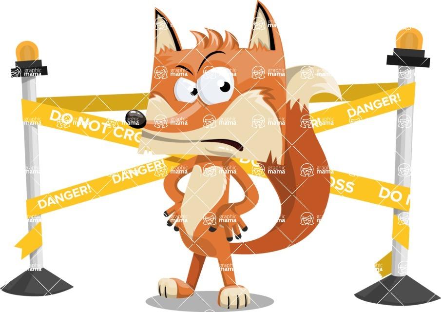 Flat Fox Cartoon Vector Character AKA Roy Foxly - Under Construction 2