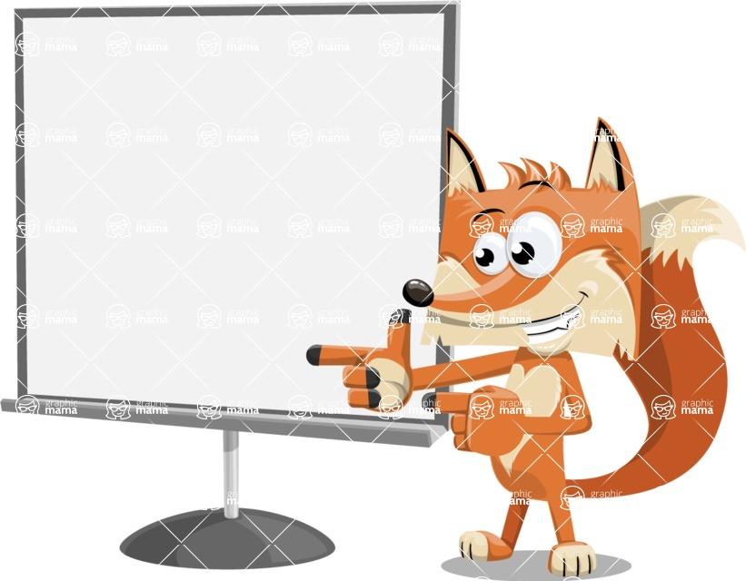 Flat Fox Cartoon Vector Character AKA Roy Foxly - Presentation 2