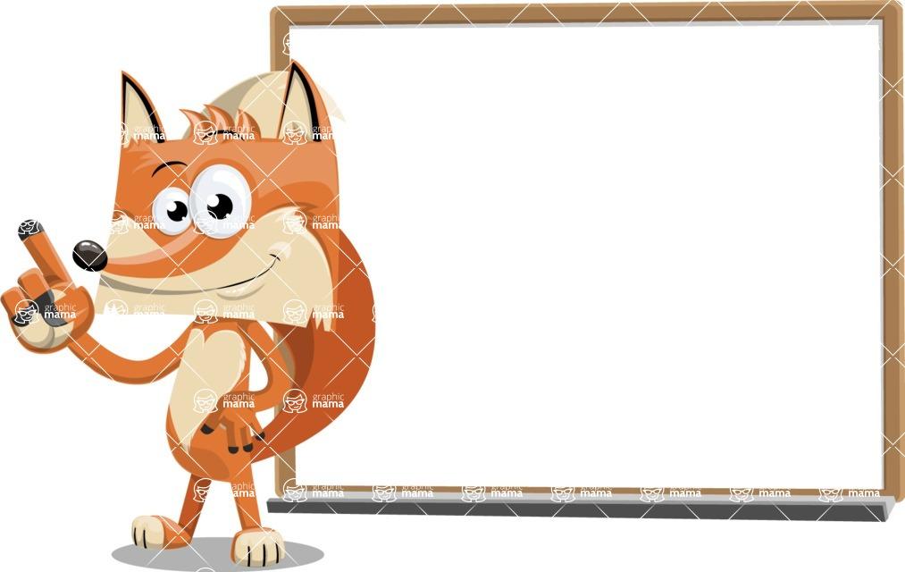 Flat Fox Cartoon Vector Character AKA Roy Foxly - Presentation 3