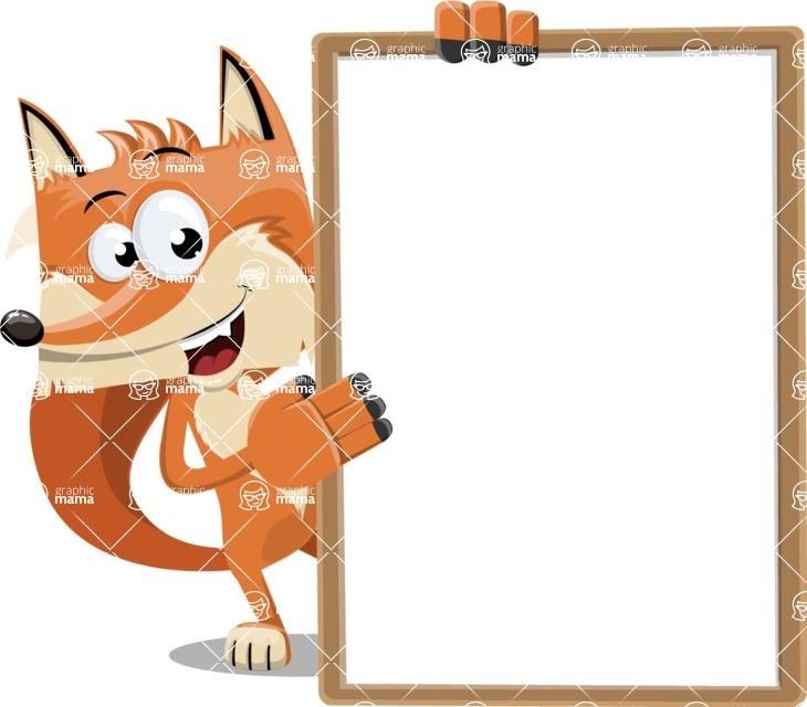 Flat Fox Cartoon Vector Character AKA Roy Foxly - Presentation 4