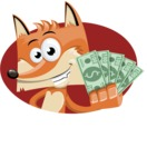 Flat Fox Cartoon Vector Character AKA Roy Foxly - Shape 3