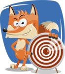 Flat Fox Cartoon Vector Character AKA Roy Foxly - Shape 10