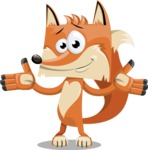 Flat Fox Cartoon Vector Character AKA Roy Foxly - Sorry