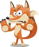 Flat Fox Cartoon Vector Character AKA Roy Foxly - Stop 2
