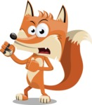 Flat Fox Cartoon Vector Character AKA Roy Foxly - Angry