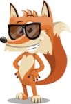 Flat Fox Cartoon Vector Character AKA Roy Foxly - Sunglasses