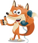 Flat Fox Cartoon Vector Character AKA Roy Foxly - Support