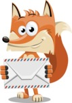 Flat Fox Cartoon Vector Character AKA Roy Foxly - Letter