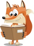 Flat Fox Cartoon Vector Character AKA Roy Foxly - Book 1