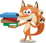 Flat Fox Cartoon Vector Character AKA Roy Foxly - Book 2
