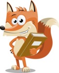 Flat Fox Cartoon Vector Character AKA Roy Foxly - Book 3