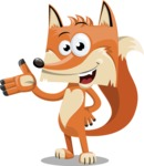 Flat Fox Cartoon Vector Character AKA Roy Foxly - Showcase 2
