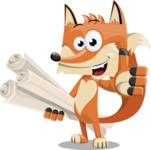 Flat Fox Cartoon Vector Character AKA Roy Foxly - Plans