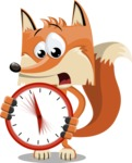 Flat Fox Cartoon Vector Character AKA Roy Foxly - Time is Yours