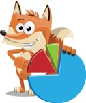 Flat Fox Cartoon Vector Character AKA Roy Foxly - Chart