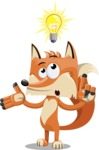 Flat Fox Cartoon Vector Character AKA Roy Foxly - Idea 2