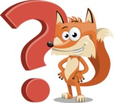 Flat Fox Cartoon Vector Character AKA Roy Foxly - Question