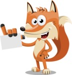 Flat Fox Cartoon Vector Character AKA Roy Foxly - Sign 1