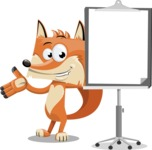 Flat Fox Cartoon Vector Character AKA Roy Foxly - Presentation 1