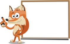 Flat Fox Cartoon Vector Character AKA Roy Foxly - Presentation 3