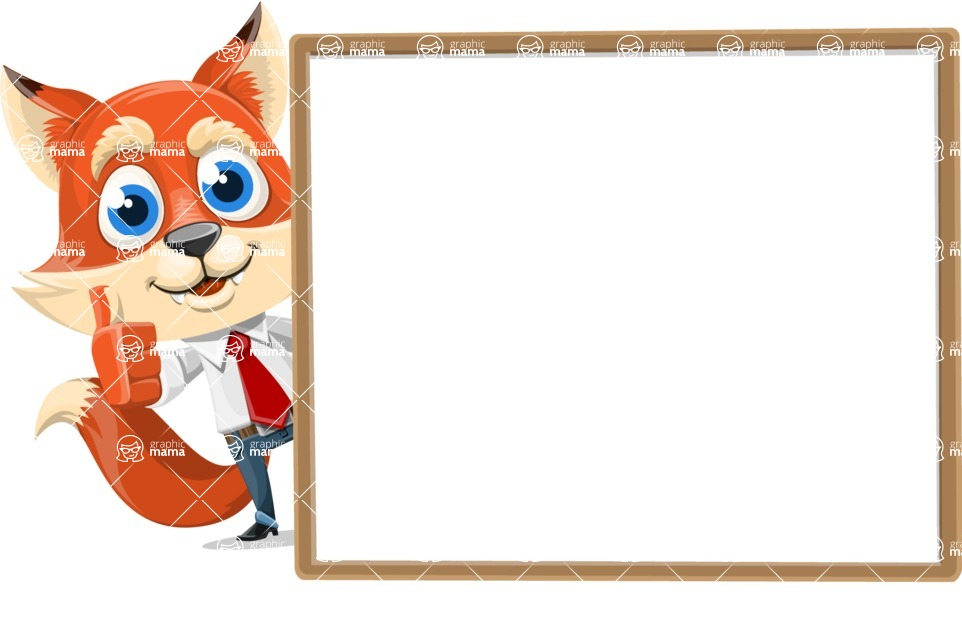 Fox Businessman Cartoon Vector character AKA Ben Tails - Presentation 5