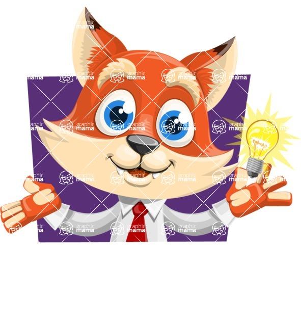 Fox Businessman Cartoon Vector character AKA Ben Tails - Shape 1