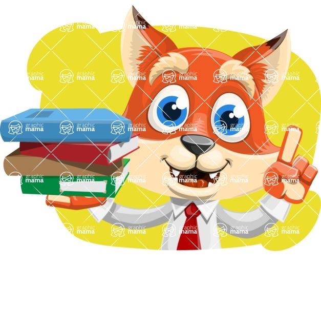 Fox Businessman Cartoon Vector character AKA Ben Tails - Shape 4