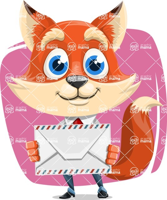 Fox Businessman Cartoon Vector character AKA Ben Tails - Shape 5