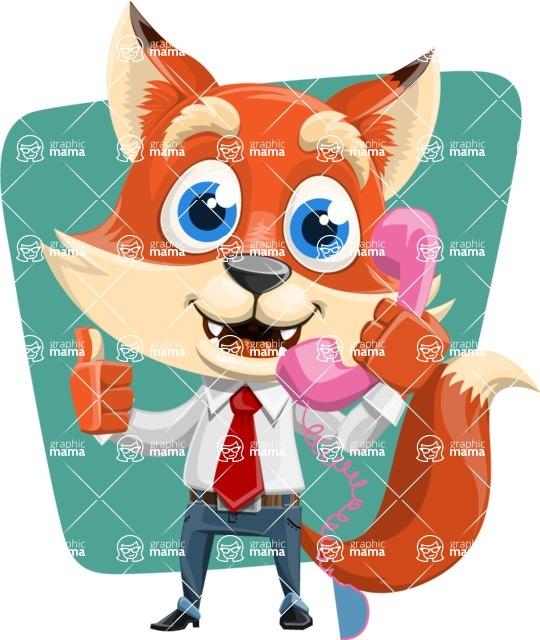 Fox Businessman Cartoon Vector character AKA Ben Tails - Shape 6