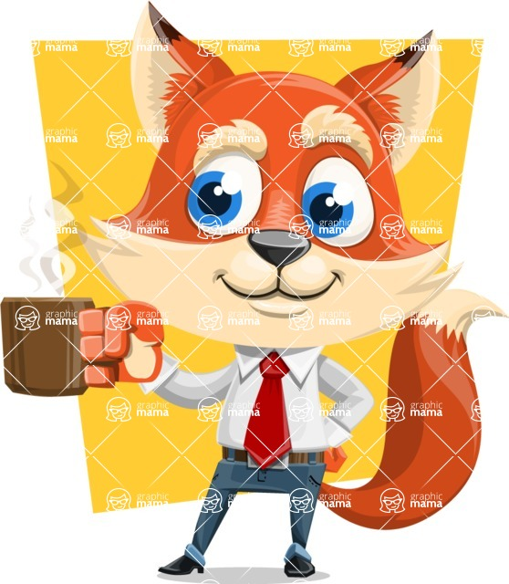 Fox Businessman Cartoon Vector character AKA Ben Tails - Shape 11