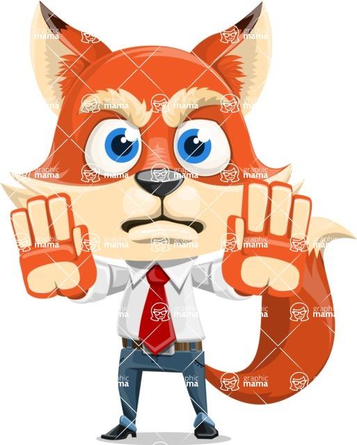 Fox Businessman Cartoon Vector character AKA Ben Tails - Stop 2
