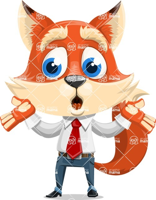 Fox Businessman Cartoon Vector character AKA Ben Tails - Lost