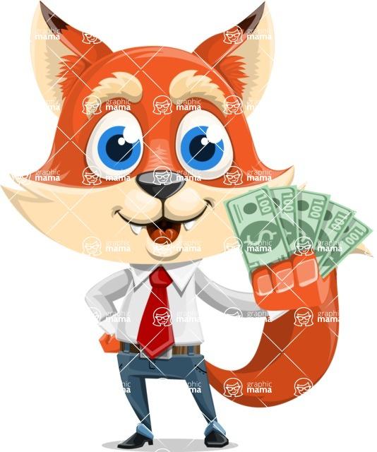 Fox Businessman Cartoon Vector character AKA Ben Tails - Show me  the Money