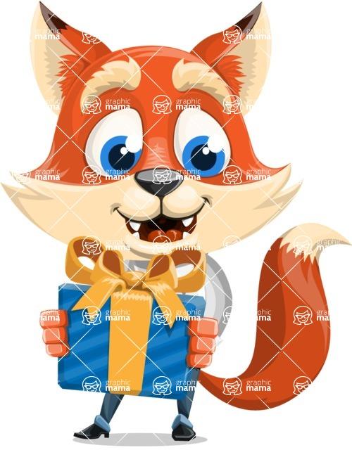 Fox Businessman Cartoon Vector character AKA Ben Tails - Gift