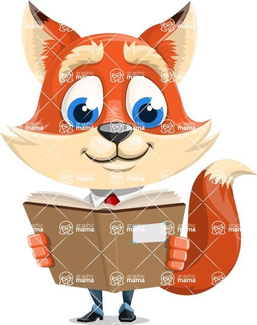Fox Businessman Cartoon Vector character AKA Ben Tails - Book 1